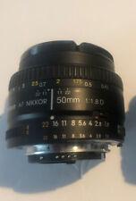 Nikon AF NIKKOR 50mm f/1.8D Lens with Nikon Hood