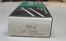 (25) PACK OF PANDUIT PPM-8 INSTA-CODE WIRE MARKER DISPENSER CARDS 8 FREE US SHIP