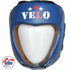 VELO AIBA Head Guard Offiziell Pro Leather Guards Gear