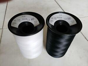 Z-33 Nylon Bonded 8 Oz. Spools - 1 Black 1 White