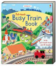 Usborne Pull Back Books : Busy Train Book (bb) pull back train & 4 tracks NEW