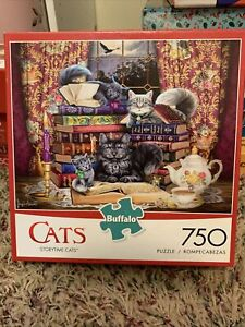 Buffalo Games 750 Piece Puzzle  Storytime Cats 97070