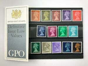 British Mint Stamps Definitive Issue Low Values GPO Postal Stamps Pack 688CX