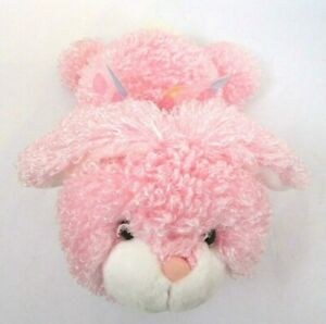 """Bunny Rabbit 13"""" Plush Floppy Ears Fluffy Pink Curly Easter Spring Cottontail"""