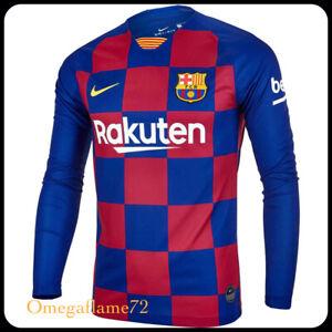 Nike FC Barcelona Long Sleeve Home Football Shirt, AJ5673-457, LRG, 100% Genuine