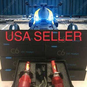 BLUE H4 LED REPLACEMENT Headlight Bulbs Kit 10k for Hino 145 165 185 258 268 338