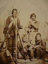 Turkish Ottoman Infantry Soldiers Crimean War 1854 7x5 inch Photo Reprint