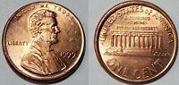 1999 - OFF CENTER BROADSTRUCK - LINCOLN MEMORIAL CENT MAJOR MINT ERROR  #10515