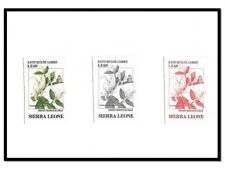Sierra Leone MNH - Imperf Color Proof - Insects Butterflies Flowers Honeysuckle