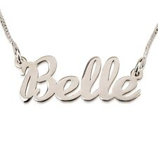 Name Necklace - Sterling Silver Handwritten Font Nameplate Pendant - oNecklace ®