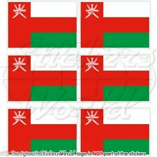 "OMAN Omani Flag, Arab 40mm (1.6"") Mobile Cell Phone Mini Stickers, Decals x6"