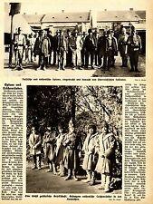 Spie & cadaveri predatori presentato e sorvegliato da soldati austriaci 1915