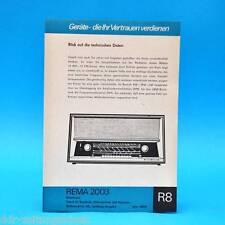 Rema 2003 Mittelsuper DDR 1967 | Prospekt Werbung DEWAG Werbeblatt R8 II