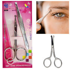 Eyebrow Tweezer & Scissor Eye Grooming Steel Hair Removal Kit Sharp Eye Brow Kit