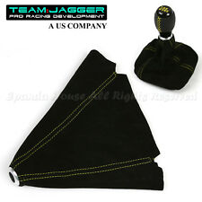 FOR DODGE ONLY! BLACK SUEDE LEATHER SHIFT BOOT REPLACE YELLOW STITCHED USA DIY
