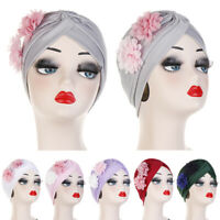 Women Muslim Flower Turban Hat Chemo Cap Hair Loss Head Scarf Wrap Cover Hijab