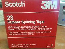 """3M Scotch 23 1 1/2"""" x 30' x .030"""" Rubber Splicing Tape"""