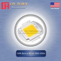 1Pcs 100W Watt High Power Nature White 4000-4500K SMD LED Chip COB Lamp Lights