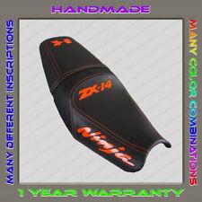 Design Seat Cover KAWASAKI NINJA ZX-14 (ZZR1400) 06-11 black+d.orange-gloss 001