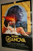 A1 Filmplakat ,FELLINI'S CASANOVA,DONALD SUTHERLAND,