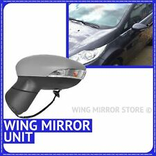 Wing Mirror Primed Electric Heated Left side for Ford Fiesta 2008-On