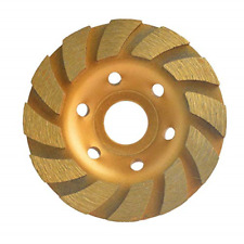 "4"" Concrete Turbo Diamond Grinding Disc Wheel 12 Segs Cup Masonry Granite Stone"