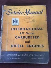 INTERNATIONAL NISSAN 817 CARBURETATED DIESEL ENGINE SERVICE MANUAL 1964