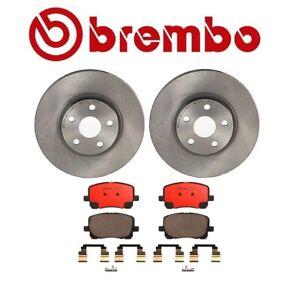 For Corolla Matrix Pontiac Vibe Front Brake Kit Disc Rotors Ceramic Pads Brembo