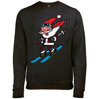 esquí Papá Noel para hombre Navidad Papá Noel Jersey Sudadera