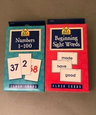 Flash Card Set Beginning Sight Words And Numbers
