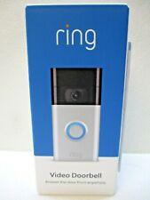 Ring - Video Doorbell 2nd Gen - Satin Nickel 1080p Hd videoNew Sealed