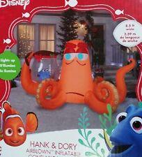 CHRISTMAS SANTA DISNEY HANK & DORY OCTOPUS  INFLATABLE AIRBLOWN YARD DECORATION