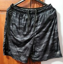 Russell Athletic Black Camo Athletic Shorts100% Polyester Mens Medium (32/34)