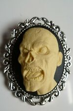 Day of the Dead Zombie Cameo Brooch Gothic Steampunk Halloween