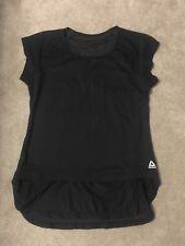 Reebok Women's M Black Short Sleeve Mesh Back Workout Shirt