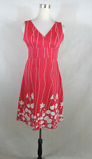 Women's SPENSE Pink Cotton Blend Knee-Length Casual Dress Size 8 fit & flare