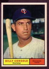 1961 TOPPS BILLY CONSOLO CARD NO:504 NEAR MINT CONDITION