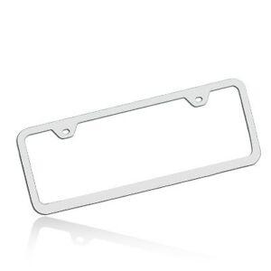 Slim Half-size Polished Steel License Frame