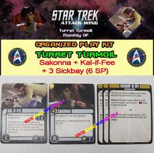 STAR TREK ATTACK WING: TURRET TURMOIL OP KIT - Sakonna + Kal-if-Fee + 3 Sickbay