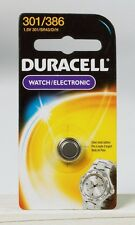 NEW! Duracell 301/386 Button Coin Battery Silver Oxide 1.5 volt Watch/Electronic