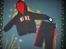 Nike Running Training Track Jogger Sweatsuit Hooded Outfit 2pc Set 12 Mos NWT