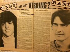 Randolph Mantooth, Randy, Donny Osmond, Two Page Vintage Clipping