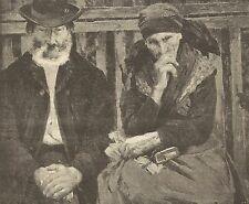 A1177 Janos Vaszvary - I Vecchi - Stampa Antica del 1905