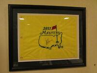 Signed & Framed Matted  Charl Schwartzel  2011 Masters Golf Pin Flag SMC 58859