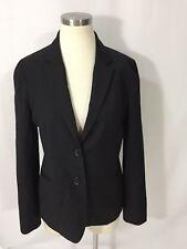 J. Crew Black 100% Wool Suiting Blazer Jacket 10 Excellent