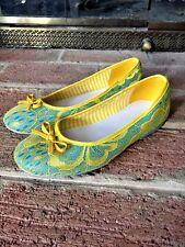 Eddie Marc Kids Ballet Flats Lace Elegance Dress Easter Fashion Girls Shoes Sz 3