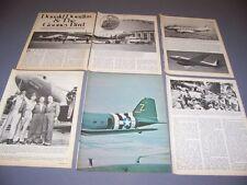 VINTAGE..DOUGLAS DC-3/C-47....HISTORY/PHOTOS/DETAILS..RARE! (428J)