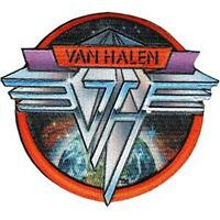 OFFICIAL LICENSED - VAN HALEN - SPACE LOGO SEW-ON/IRON-ON PATCH METAL ROTH