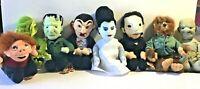 "Set 8 Universal Studios Monsters 1999 Plush Dracula Frankenstein Halloween 9"""