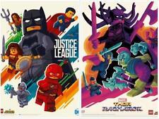 SDCC 2017 Lego Thor Ragnarok + Justice League Posters Tom Whalen Mondo Artist